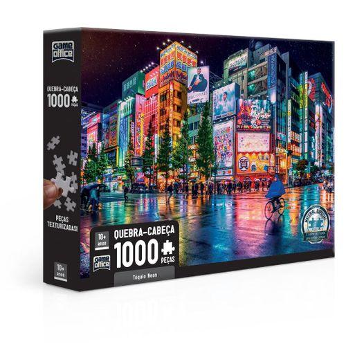 Quebra-Cabeça - Game Office - 1000 Peças - Tóquio Neon - Toyster