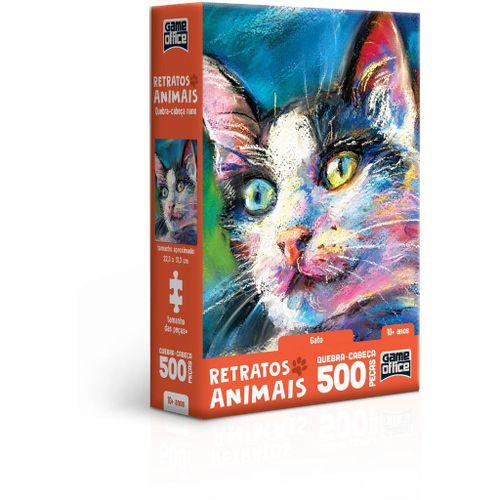 Quebra-Cabeça - Game Office - 500 Peças - Nano - Retratos Animais! - Gato - Toyster