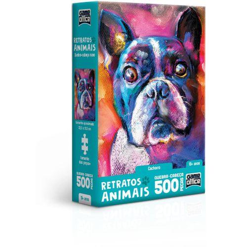 Quebra-Cabeça - Game Office - 500 Peças - Nano - Retratos Animais! - Cachorro - Toyster