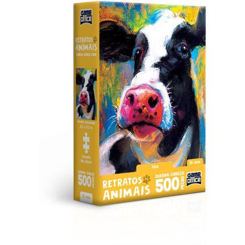 Quebra-Cabeça - Game Office - 500 Peças - Nano - Retratos Animais! - Vaca - Toyster