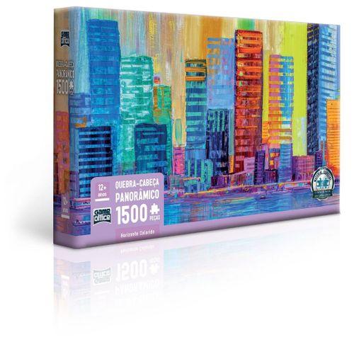Quebra-Cabeça Panorâmico - Game Office - 1500 Peças - Horizonte Colorido - Toyster