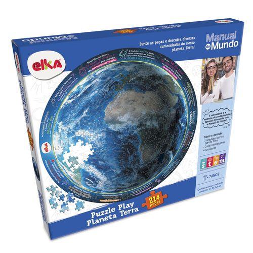 Quebra-Cabeça - 214 Peças - Manual do Mundo - Planeta Terra - Elka