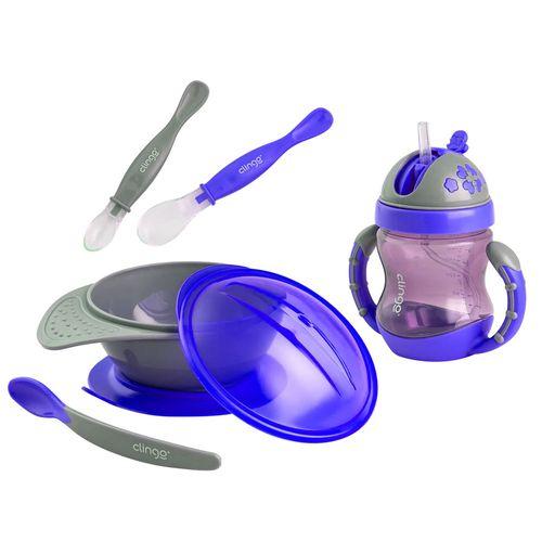 Kit de Alimentação Clingo - Azul - 4 Peças