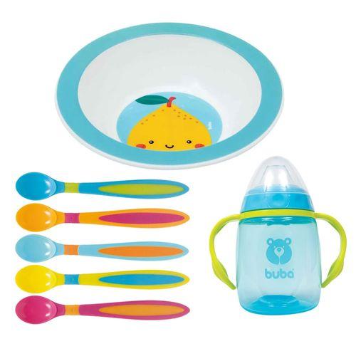 Kit de Alimentação Frutti - Limão - 7 Peças com Bowl - Buba