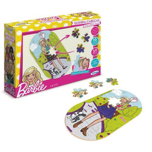 Quebra-Cabeça - Barbie - 56 Peças - Troca roupas - Xalingo