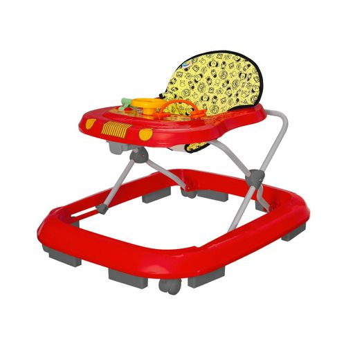 Andador Infantil de Bebê Safari Vermelho - Tutty Baby