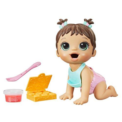 Boneca Baby Alive - Hora da Papinha - Morena - 20 cm - F2618 - Hasbro