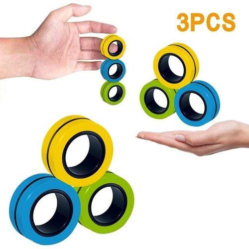 Push Fidget Spinner Anéis Magnéticos Anti-Stress
