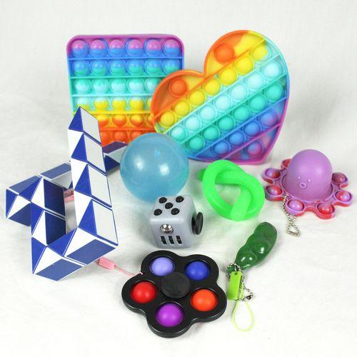 Kit Magic Pop It Fidget Toy c/ 9 itens