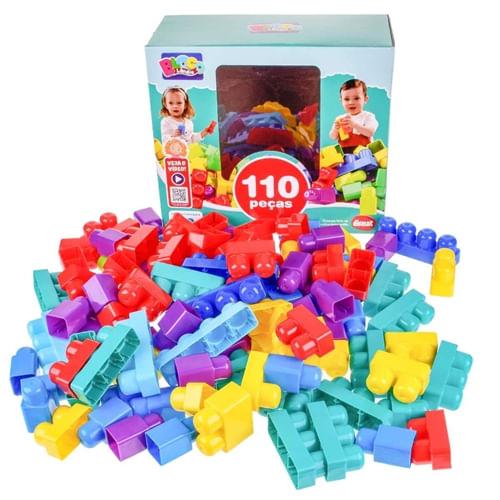 Blocos de Montar com 110 peças - MK381 - Dismat