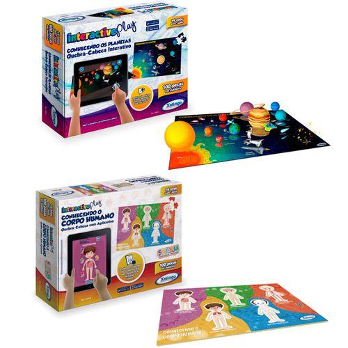 Kit de Quebra-Cabeça Infantil e Interativo
