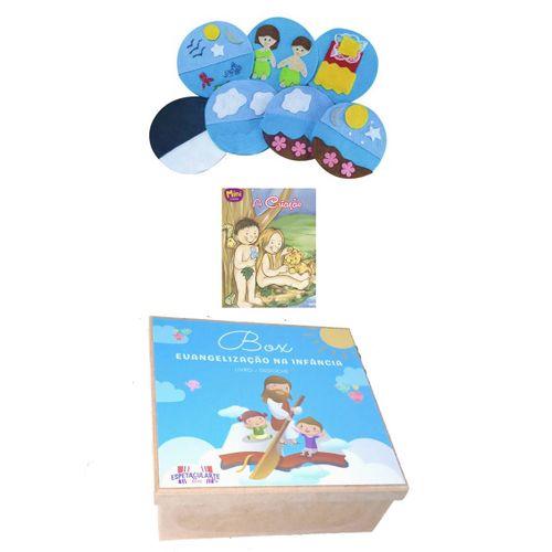 Box Evangelização A Criação do Mundo- Kit De Dedoches + Livro