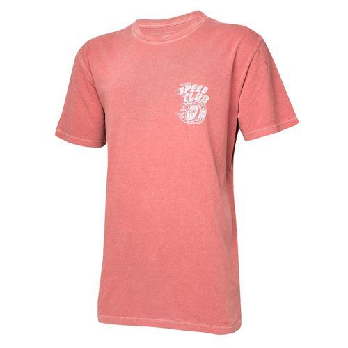 Camiseta Masc. Hot Wheels Gear Head Speed Club Estonada - Vermelha