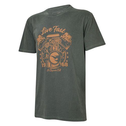 Camiseta Masc. Hot Wheels Gear Head Live Fast Estonada - Preta
