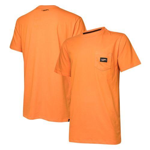 Camiseta Masc. Hot Wheels Logomania Pocket - Laranja