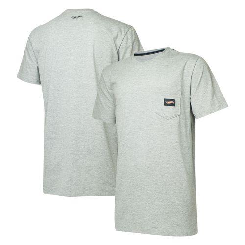 Camiseta Masc. Hot Wheels Logomania Pocket - Cinza Mescla