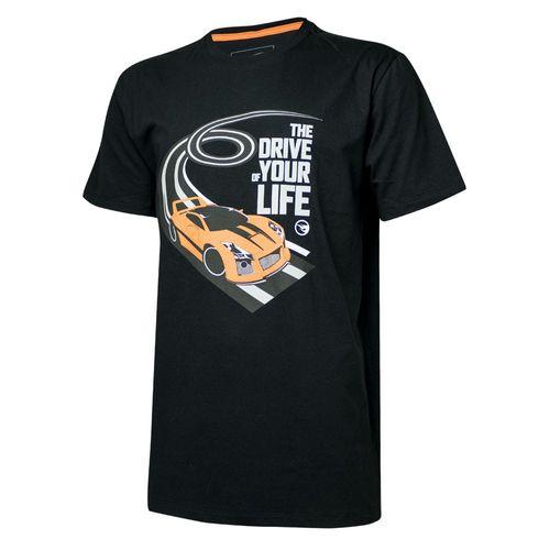 Camiseta Masc. Hot Wheels Tracks The Drive - Preta