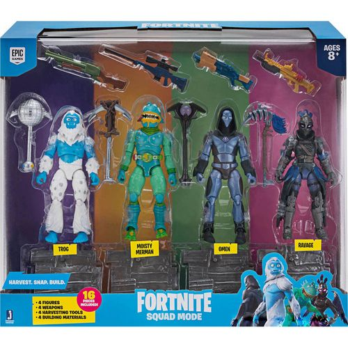 Conjunto com 4 Mini Figuras e Acessórios - Fortnite - Squad Mode - Sunny