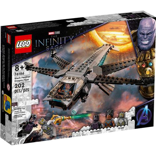 Lego - Avião Dragão de Black Panther - The Infinity Saga - 76186