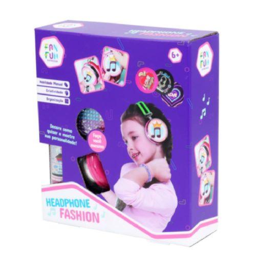 Headphone Infantil Com Adesivos Decorativos - Fashion - Fanfun