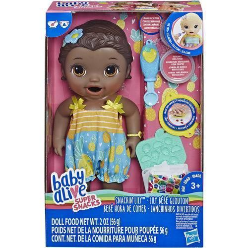 Baby Alive Lanchinhos Divertidos Negra - E5839 - Hasbro