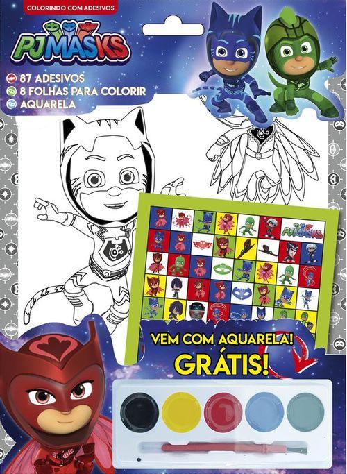 PJ Masks - Colorindo com Adesivos