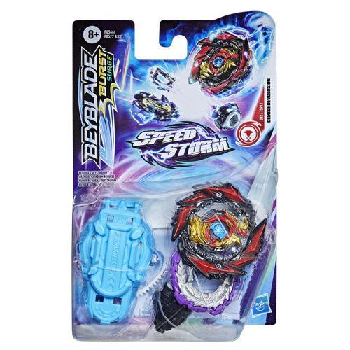 Lançador e Pião de Batalha Beyblade Speedstorm Iniciante - Demise Devolos D6 - Hasbro