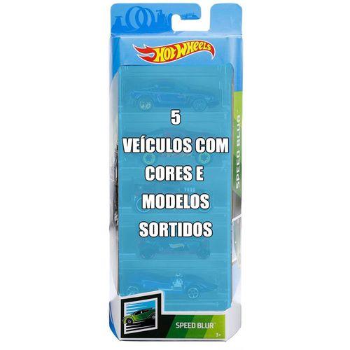 Conjunto de Veículo Hot Wheels - Pacote com 5 Sortidos - Speed Blur - Mattel