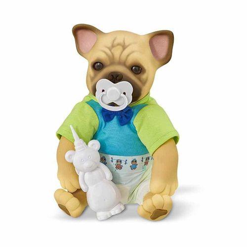 Figura de Vinil - Filhotinho - Bebê Pet Reborn - Faz Xixi - Roma
