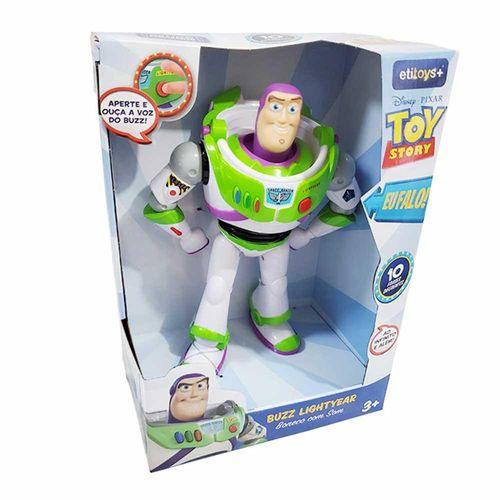 Boneco com Som -  Articulado - Toy Story - Disney - Buzz Lightyear - 10 Frases - Etitoys