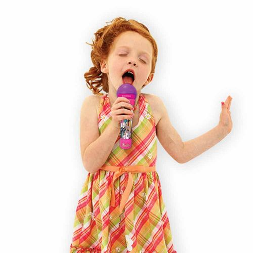 Microfone Rockstar Infantil com Som e Luzes - Barbie - Fun Divirta-se