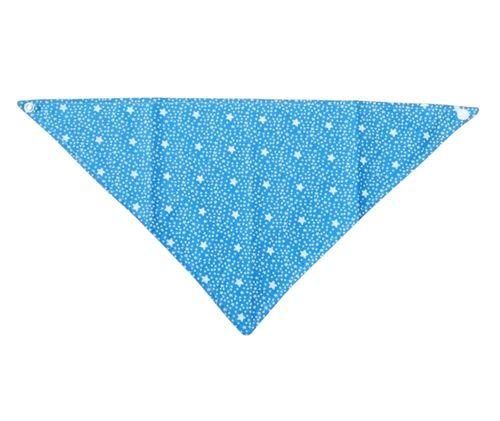 Babador Bebê Bandana Estrelas Azul
