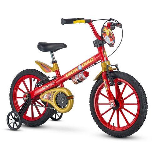 Bicicleta - Aro 16 - Homem de Ferro - Nathor - Vermelho