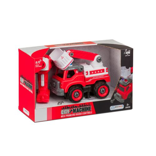 Veículo de Controle Remoto - City Machine - Caminhão de Bombeiros Resgate - Multikids