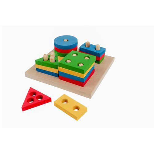 Brinquedo Educativo de Madeira Prancha de Seleção Pequena