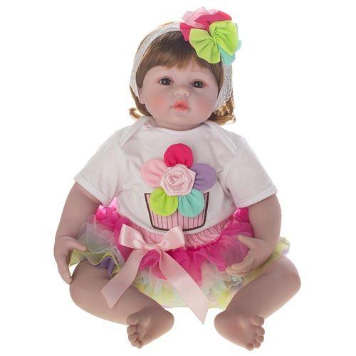 Boneca Bebe Reborn Laura Baby Flora
