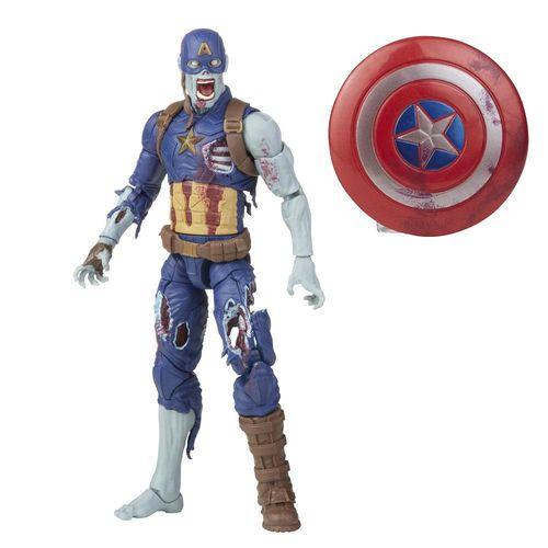 Figura Articulada - Marvel - Legends Series - Zombie Captain America - 15 cm - Hasbro