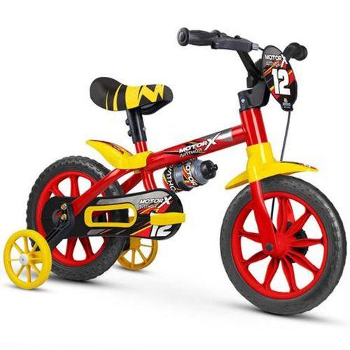 Bicicleta Infantil Aro 12  Motor X Nathor Vermelho
