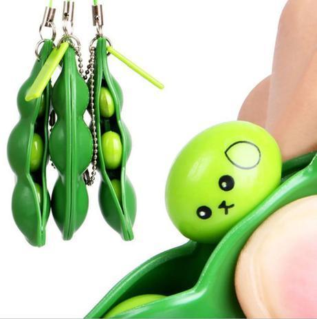 Anti Stress Chaveiro Ervilhas Fofas Fidget Toy Pop It