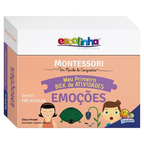 Meu Primeiro Box de Atividades Escolinha Montessori Emoções - Todolivro