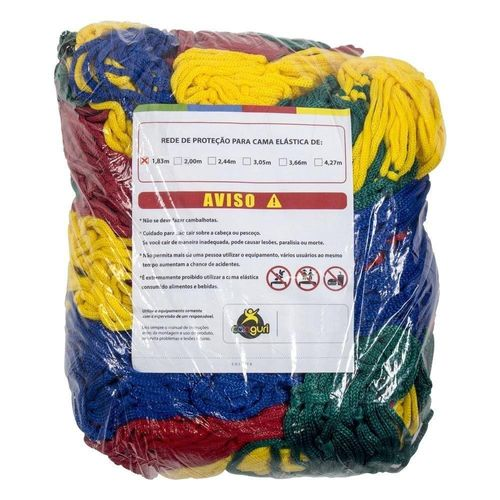 Rede Colorida para Cama Elastica de 1,83m 1,30x5,90m