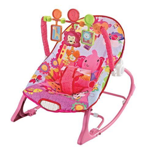 Cadeira de Descanso Musical FunTime New 18kgs Rosa-Maxi Baby