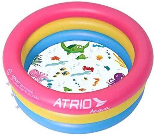Piscina Infantil 88 Litros Circular Fundo do Mar - Atrio