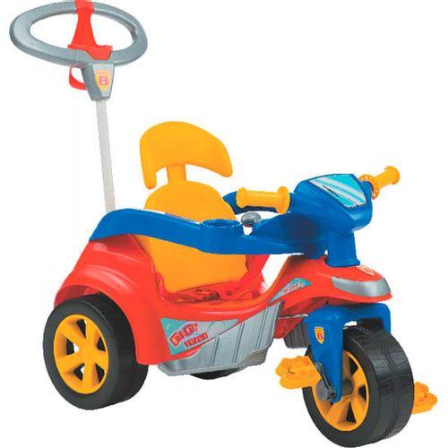 Triciclo Infantil Biemme Baby Trike Evolution - 2 em 1 - Pedal e Passeio com Aro - Vermelho