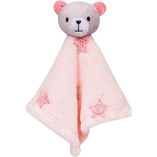 Naninha para Bebê Buba Ursinho - 35 x 35 cm - Estrelinha Rosa