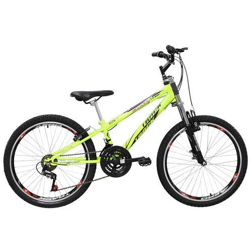 Bicicleta - Aro 24 - Dragon Fire - Com Suspensão - Tk3-Track - Amarelo