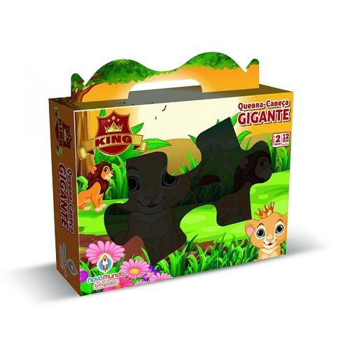 Quebra - Cabeça Gigante - Leãozinho- 12 Peças - Algazarra