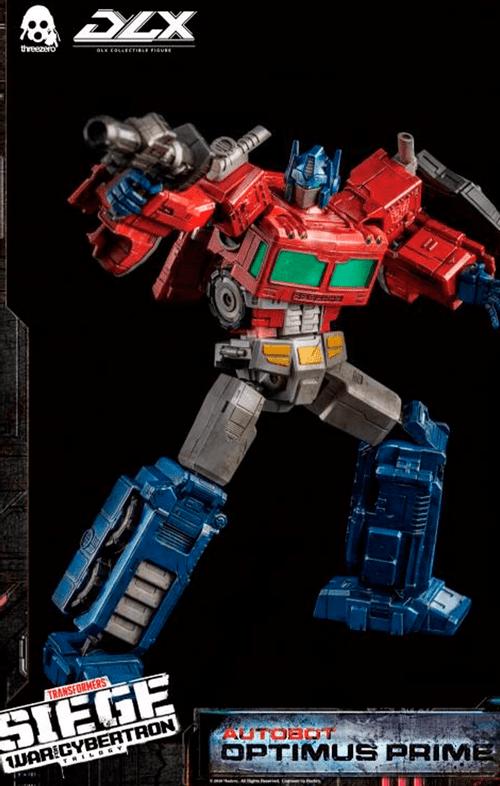 Figura Optimus Prime Deluxe - War for Cybertron - Threea
