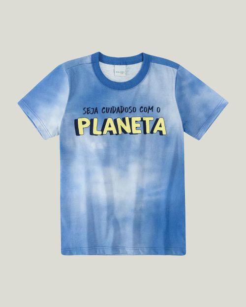 Camiseta - Malwee Kids - Tie Dye - Viroblock® - Azul Escuro - Menino