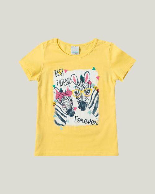 Blusa - Malwee Kids - Zebras - Amarelo Claro - Menina